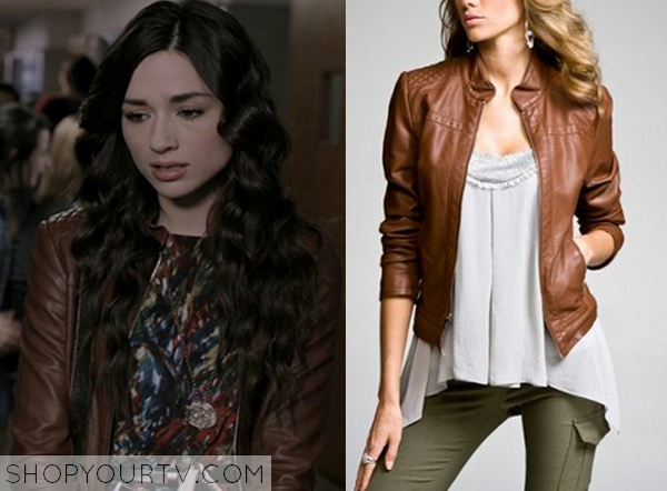 Teen Wolf: Season 1 Episode 8 Allison's Brown Leather Jacket ... : express quilted leather jacket - Adamdwight.com
