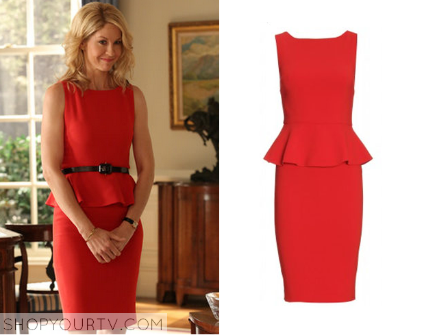 emily red peplum dress