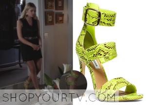 Pretty Little Liars: Season 5 Episode 3 Hanna's Ankle Strap Snakeskin Sandals