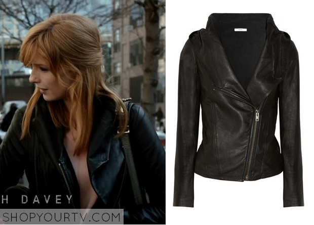Black Box: Season 1 Episode 5 Catherine's Hooded Leather Jacket ...