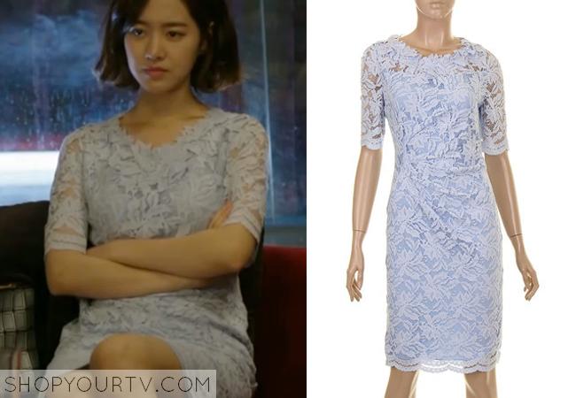 Song Jae Hee's Blue Lace Dress