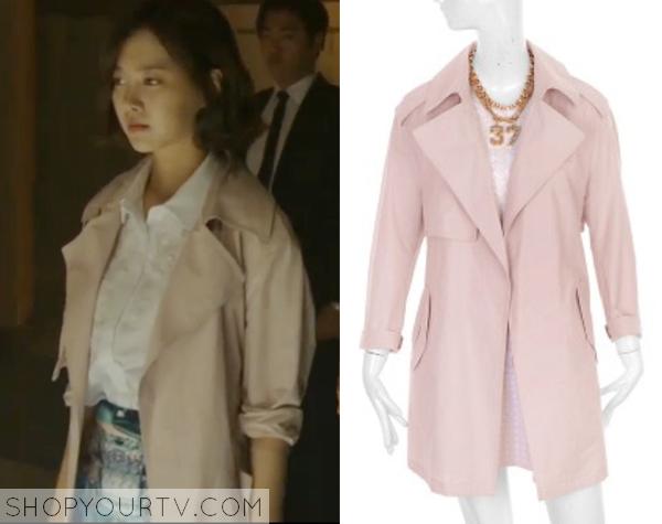 Song Jae Hee's Light Pink Trenchcoat