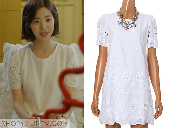 Song Jae Hee's White Lace Sleeve Dress