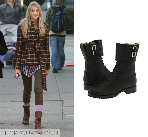 Gossip Girl: Season 1 Episode 11 Jenny's Black Lace Up Boots ...
