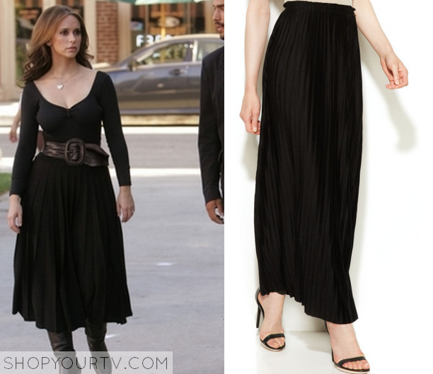 melinda black pleated skirt