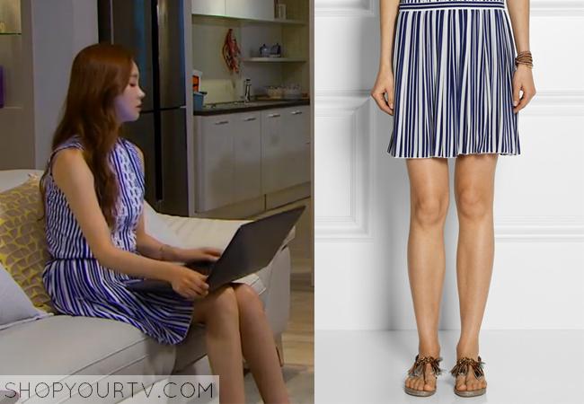 Ah Mo Ne's Blue Striped Skirt