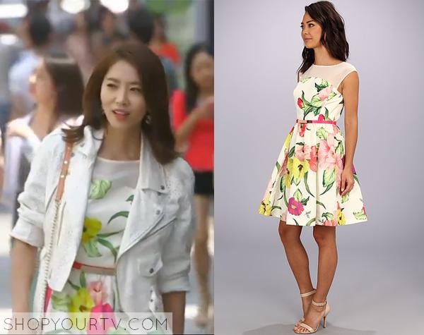 Kim Sa Kyung's Floral Print Dress
