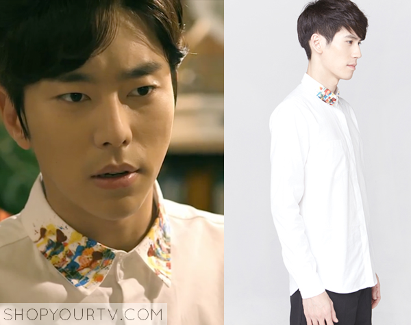 Yong Soo Chul's Paint Collar Shirt