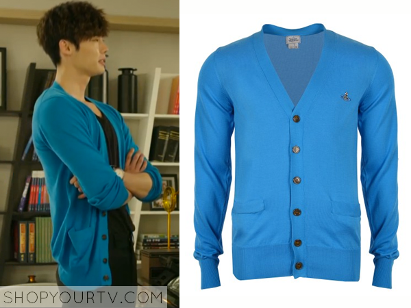 Park Hoon's Turquoise Cardigan
