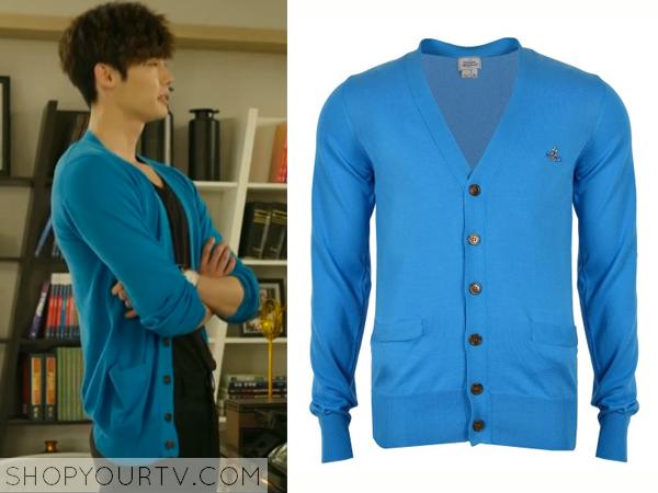 Park Hoon's Turquoise Cardigan