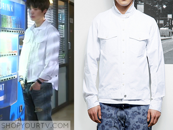 Park Tae Il's White Denim Jacket