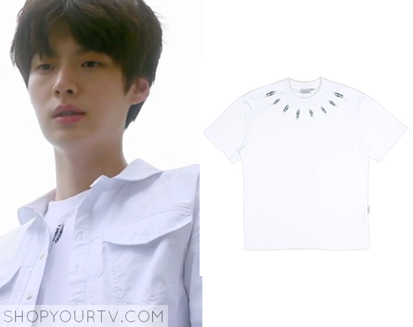 Park Tae Il's Feather Print T-Shirt