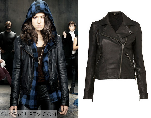 Shop Your TV: Orphan Black: Promo Sarah's Black Leather Jacket