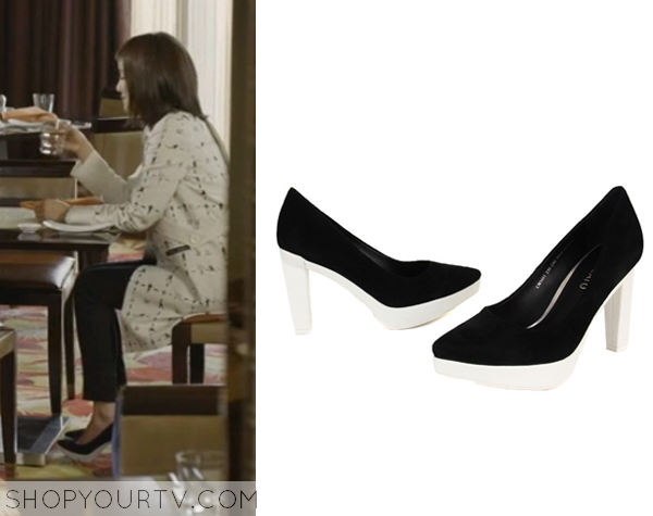 Seo Yi Re's Black and White Stacatto Heels