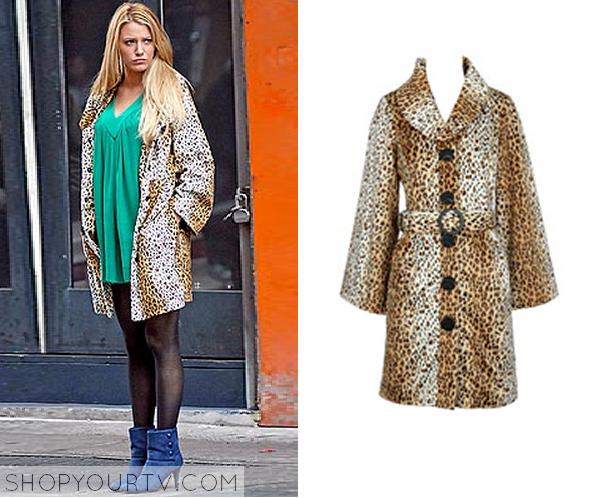 serena leopard coat