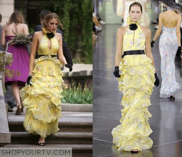 gossip girl season 1 episode 18 serena�s yellow high neck