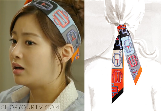 Oh Soo Hyun's Colorful Silk Headband