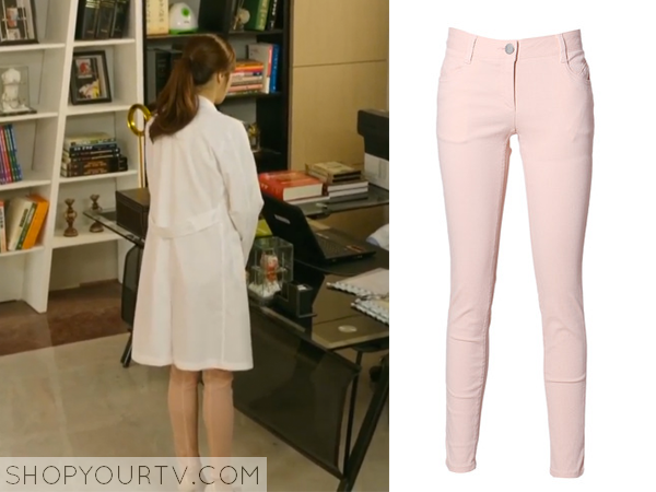 Oh Soo Hyun's Light Pink Jeans