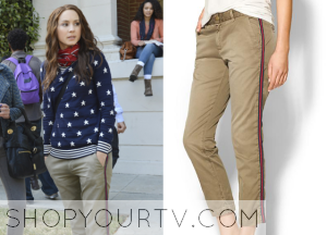 Pretty Little Liars: Season 5 Episode 5 Spencer's Tuxedo Stripe Cropped Trousers