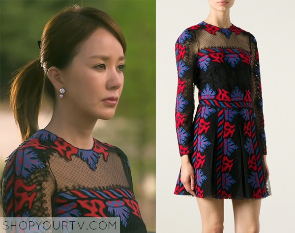 Ban Ji Yeon's Embroidered Lace Dress