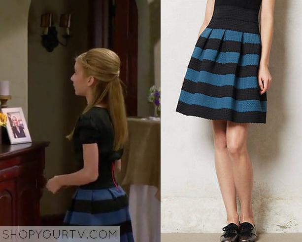 avery blue black skirt