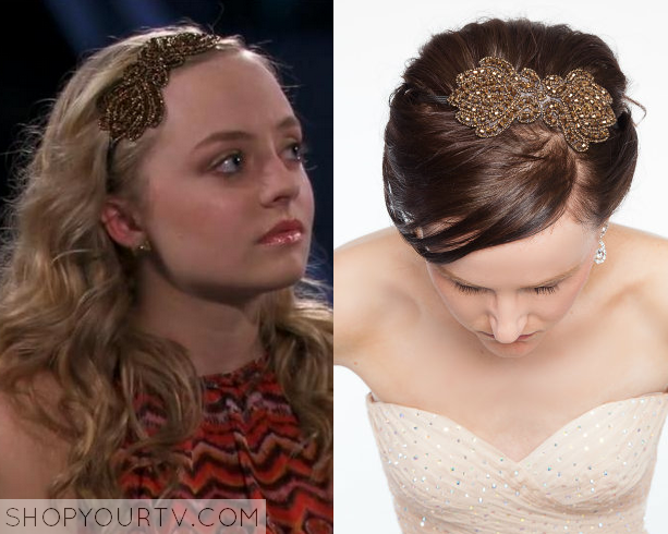 brown beaded headband