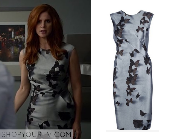 Suits Season 4 Episode 6 Donna S Grey Butterfly Dress
