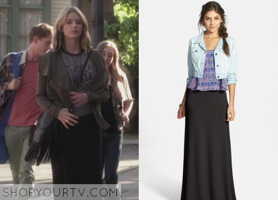 e5778a4e2bf Pretty Little Liars  Season 5 Episode 6 Hanna s Black Maxi Skirt