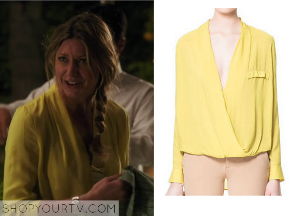 Zara Yellow Draped Blouse 51