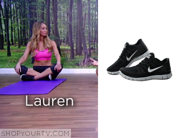 lauren black sneakers