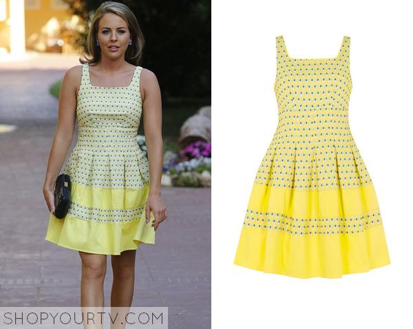 lydia yellow dot dress