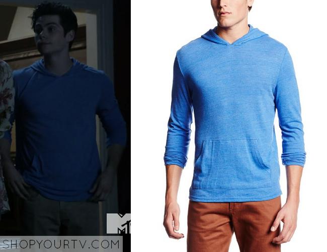 teen wolf season 4 episode 4 stiles blue pullover hoodie. Black Bedroom Furniture Sets. Home Design Ideas