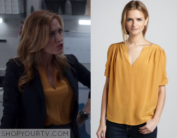 maura gold blouse