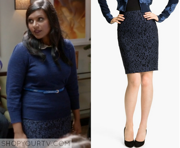 mindy blue lace skirt