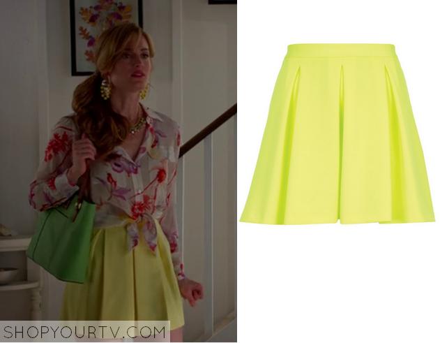 paige pleat skirt