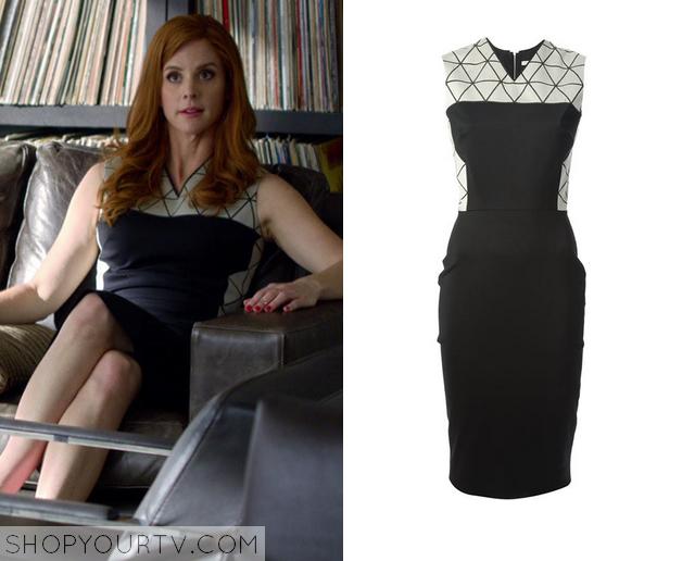 Suits Season 4 Episode 10 Donna S Black Amp Geo Print Dress