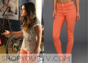 Pretty Little Liars: Season 5 Episode 10 Aria's Peach-Colored Skinny Jeans