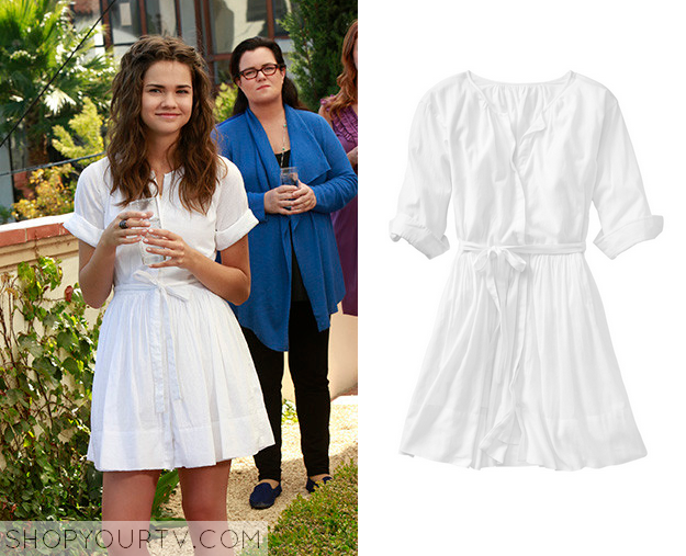 callie white shirtdress