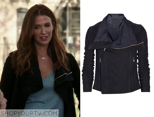 carrie black leather jacket