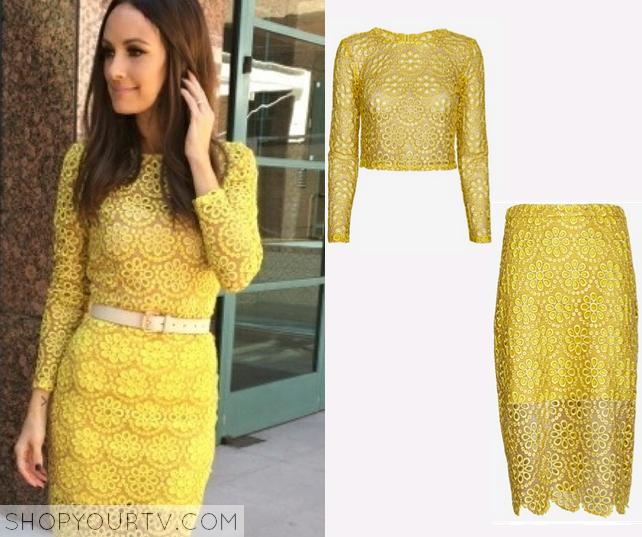 Yellow Lace 2 Piece Dress