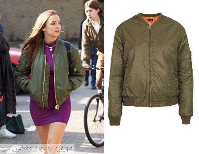 chloe green bomer jacket