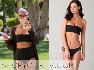 Candidly Nicole: Season 1 Episode 2 Nicole's Black Bandeau Bikini Top