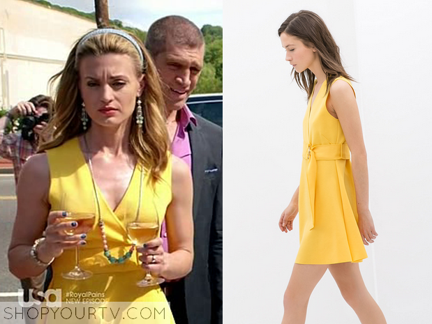 paige yellow dress