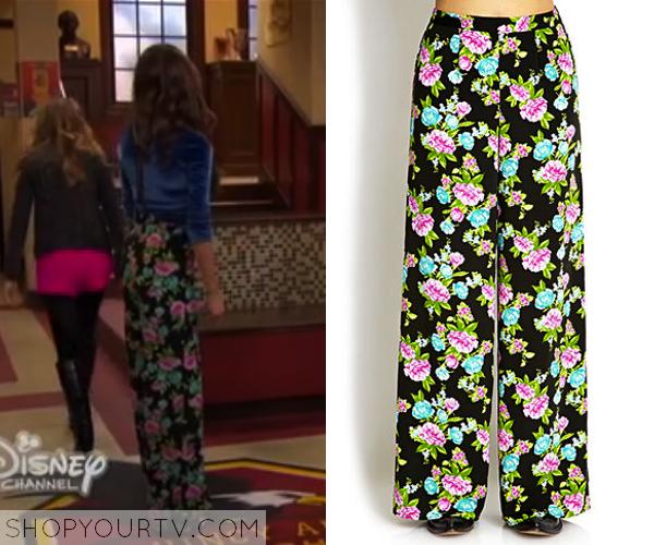 Girl Meets World: Season 1 Episode 7 Riley's Floral Wide Leg Pants |