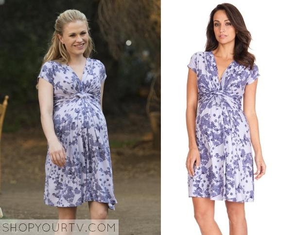 sookie purple maternity dress