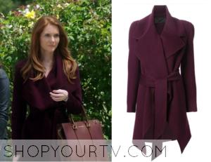 Scandal: Season 4 Episode 1 Abby's Purple Asymmetrical Coat