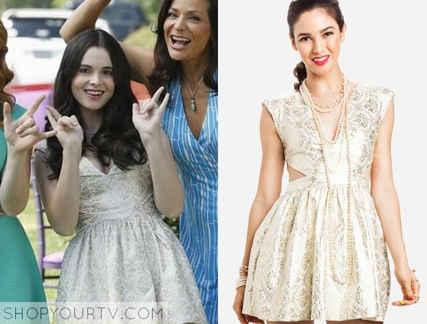 ... at Birth: Season 3 Episode 21 Bay's Gold Cut Out Graduation Dress