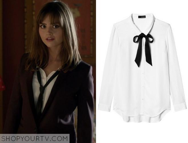 clara white blouse