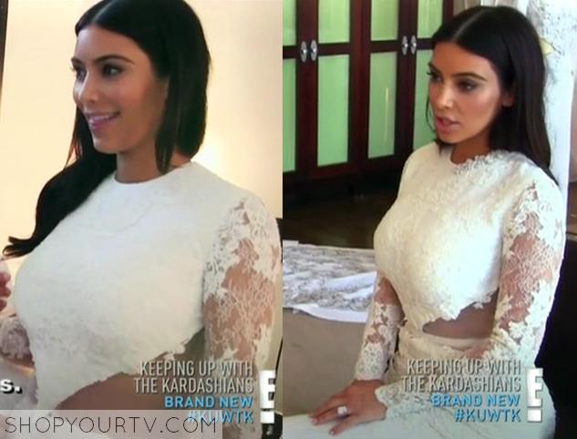 Keeping Up With The Kardashians Kim Wedding Dress