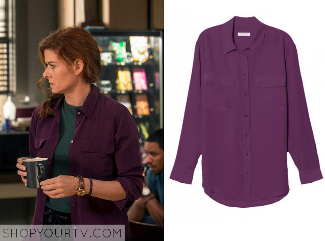 laura purple blouse